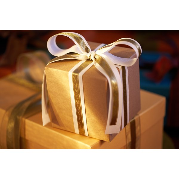 Wrapping your gift in an unusual way can add a personal touch that will be appreciated.