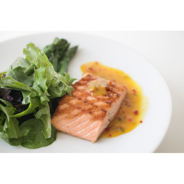 Salmon is rich in omega-3s and selenium.