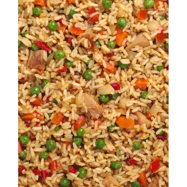 Arroz chaufa is similar to fried rice.