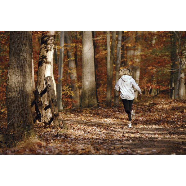 Woman jogging on a trail