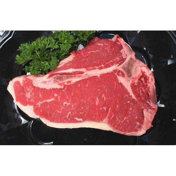 T-bones contain strip loin and tenderloin muscles.