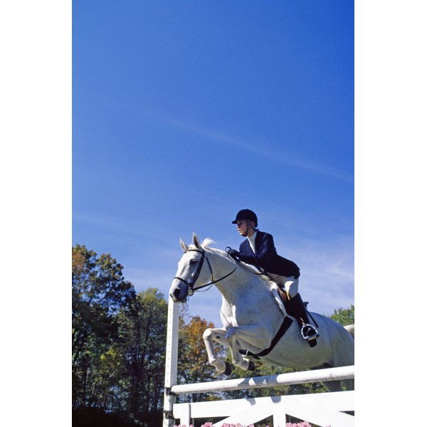 Jumping can put strain on a rider's knees and lower back