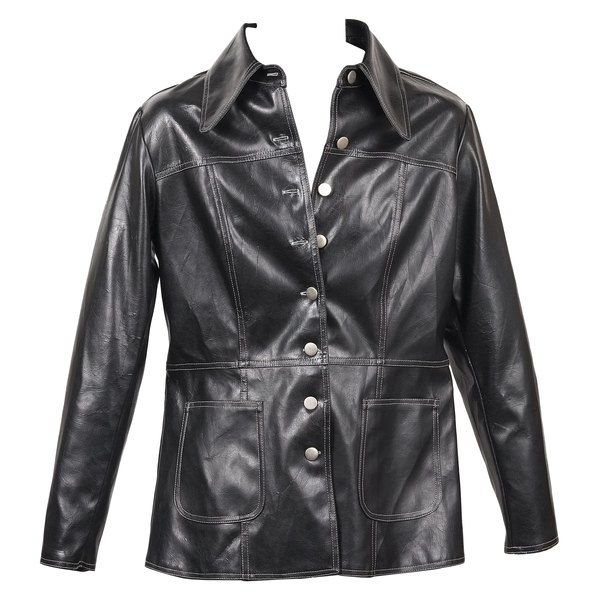 Due to manufacturing processes, imitation leather jackets often have a glossy finish.