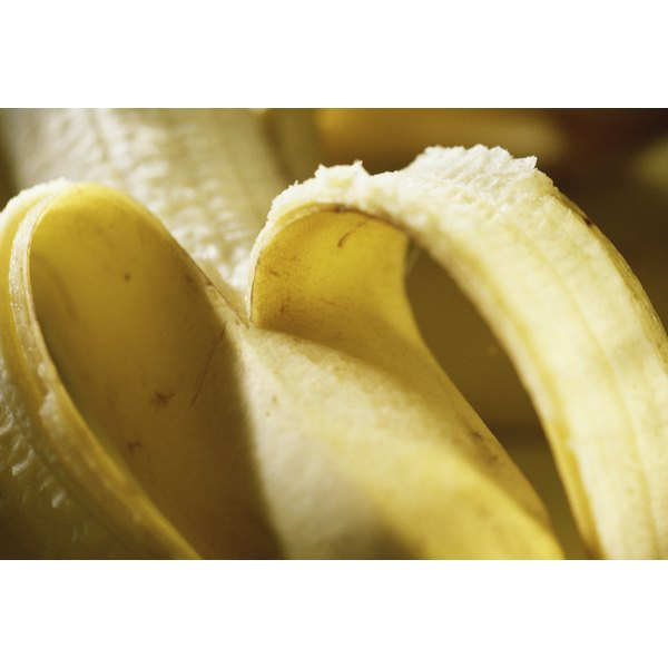 Remove any strands, fibers or bruised spots before mashing bananas.
