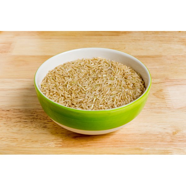 A bowl of brown rice.