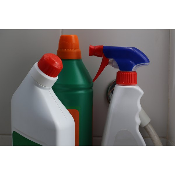 Household chemicals can cause chemical burns.