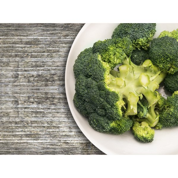 A plate of broccoli.