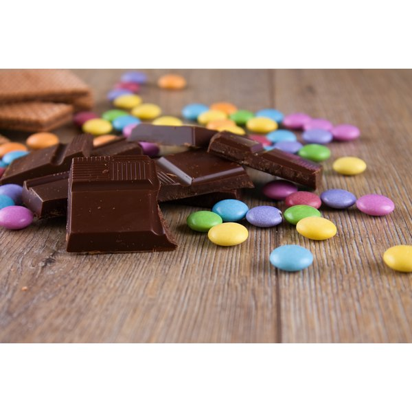 Sweet Tarts with chocolate candies.