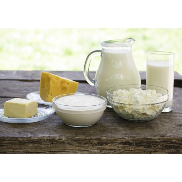 Milk and cheese are rich sources of protein.