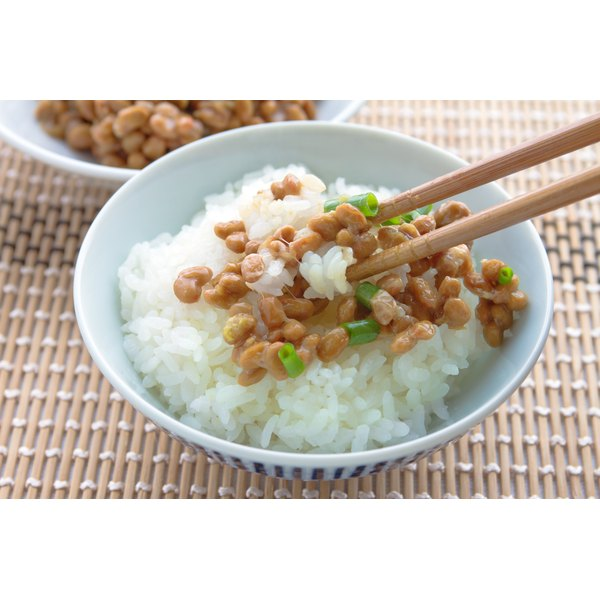 Natto is typically served over rice.