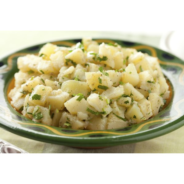 Russet potato salad will be a little drier as the potatoes absorb more moisture.
