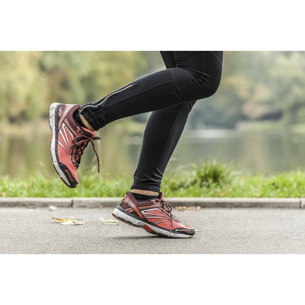 Jogging shoes with a high heel can help a runner with tendonitis.