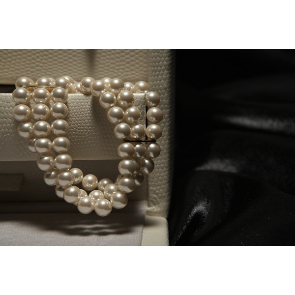 Long strands of pearls are excellent layering pieces.