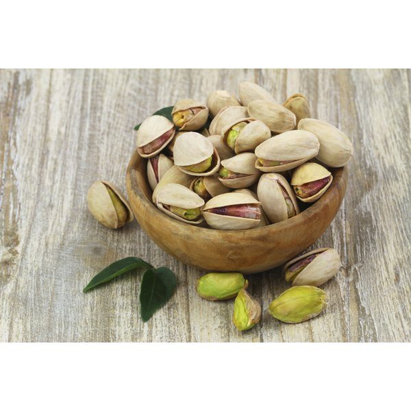 A bowl of pistachios.
