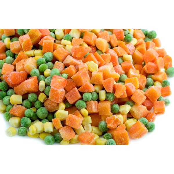A pile of frozen vegetables.