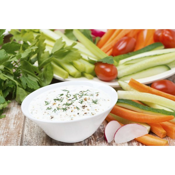 Fresh veggies and dip