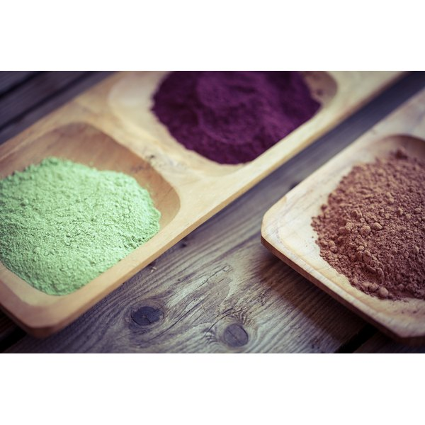 Dried supplement powders.