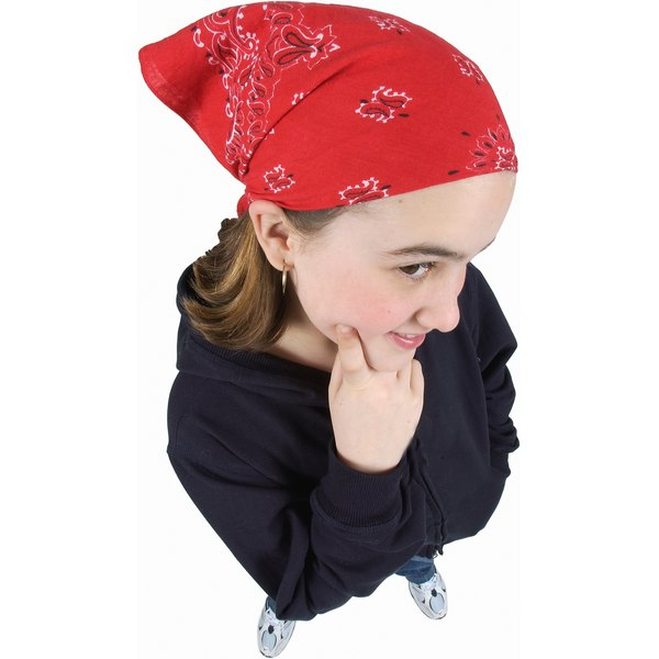 Look through your closet to find an old bandana for the project.