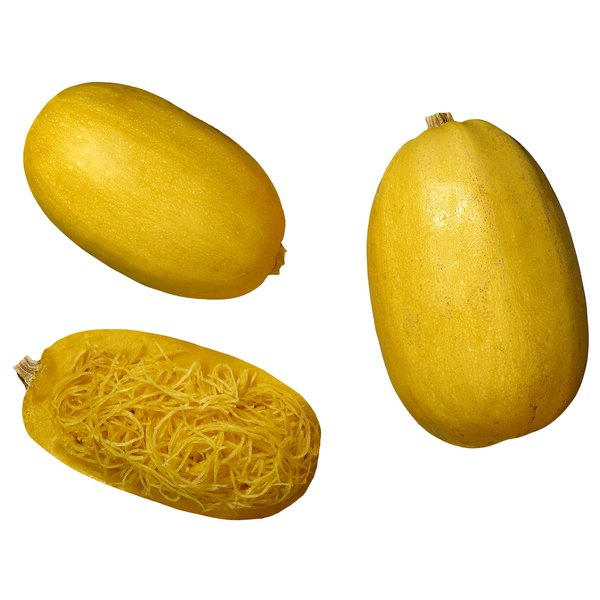 Use the starchy flesh of spaghetti squash to make mock french fries.