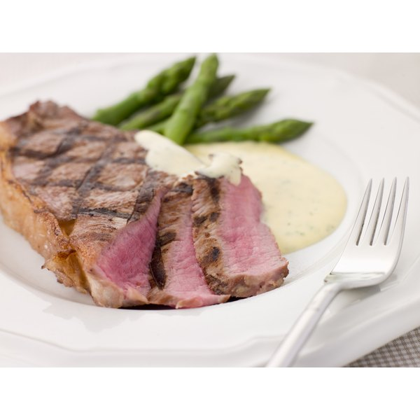 A grilled sirloin steak.