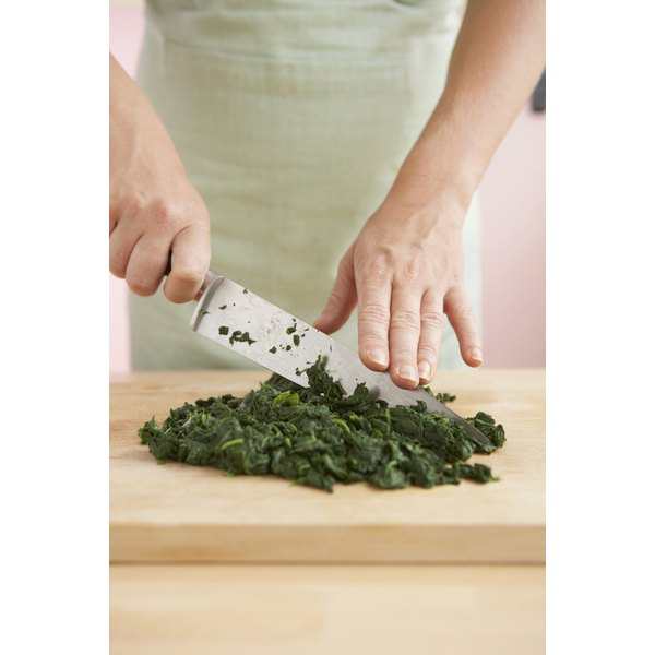 Spinach is a good source of folate.