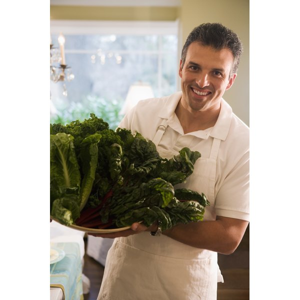 Dark  greens, such as  kale, are a vegetarian source of calcium.