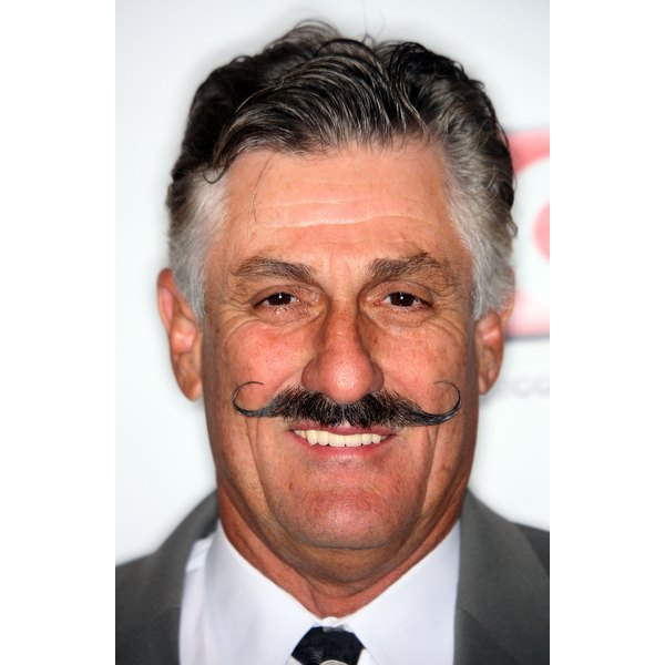 MLB star Rollie Fingers shows off a perfectly manicured curl.