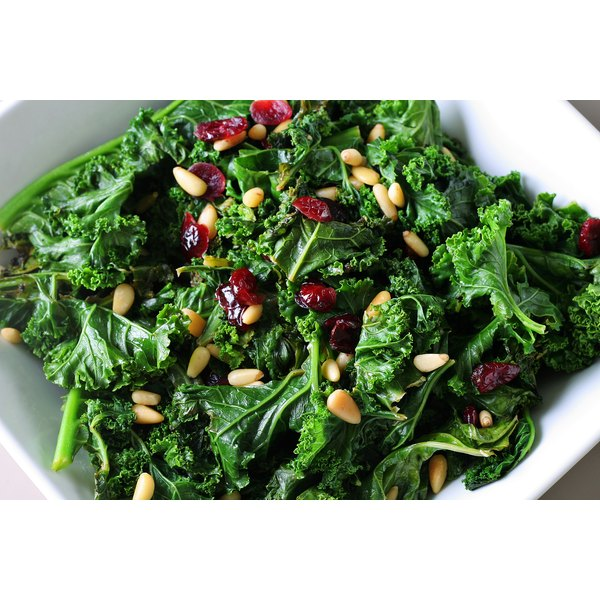 The vitamin A in leafy greens, like kale, benefits your skin.