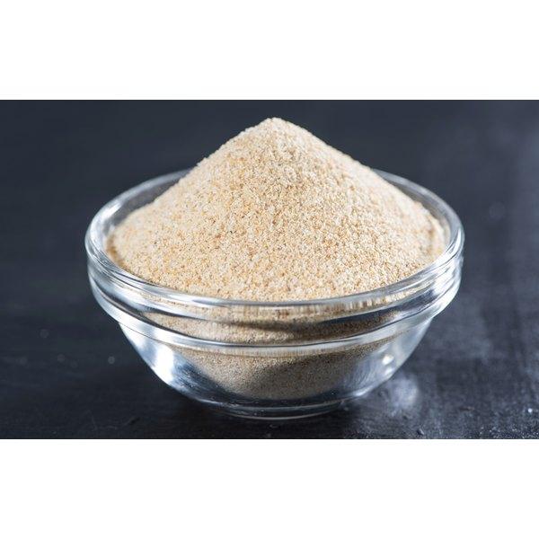 Small bowl of garlic powder.