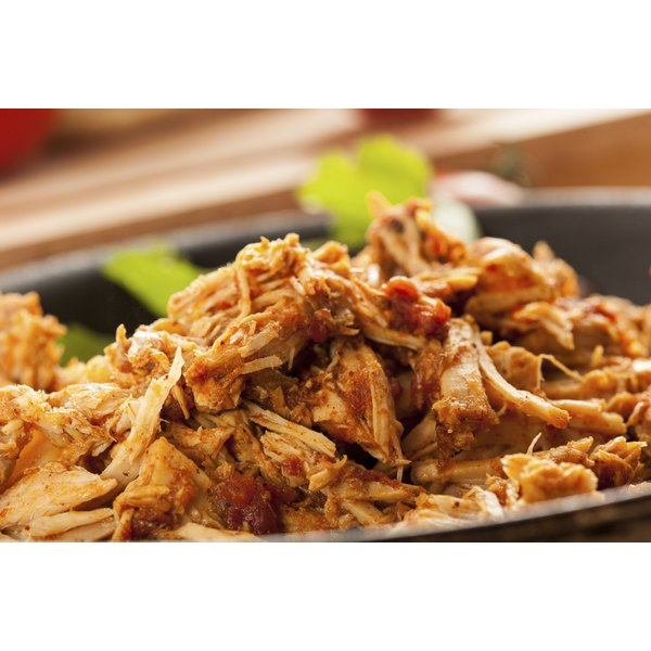 Shredded pork can be used in a number of recipes.