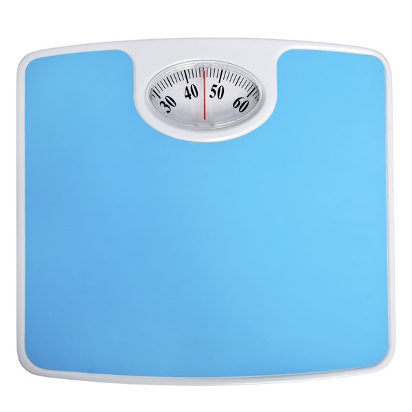 Close up of a weight scale