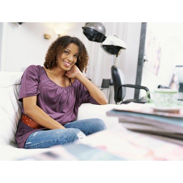 Black woman at a hair salon