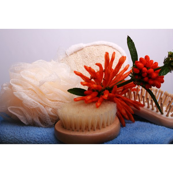 Body brushes with natural bristles are best.