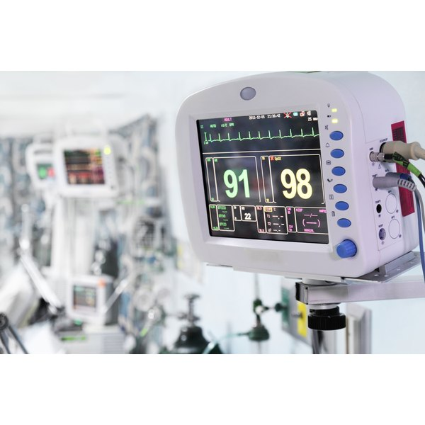 Medical equipment in the ICU.