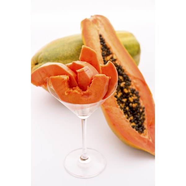 Papain comes from the papaya fruit.