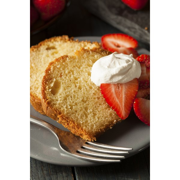 Sometimes served with strawberries and cream, sour cream pound cake provides a base for glazes and toppings.