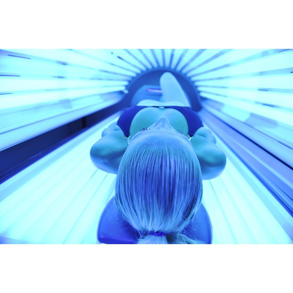 Always wear tanning goggles while tanning in tanning beds to protect your eyes from damaging light.