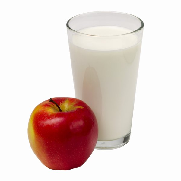 Apples and milk can help alleviate gas and bloating.