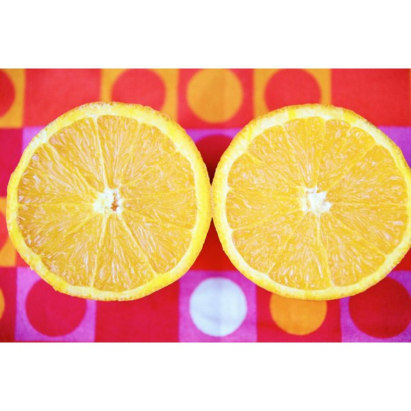 Treat a vitamin C deficiency with citrus fruit such as orange, lemon or lime or with supplements.