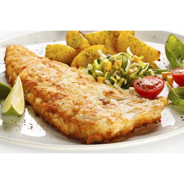 Cod is commonly served with roasted potatoes.