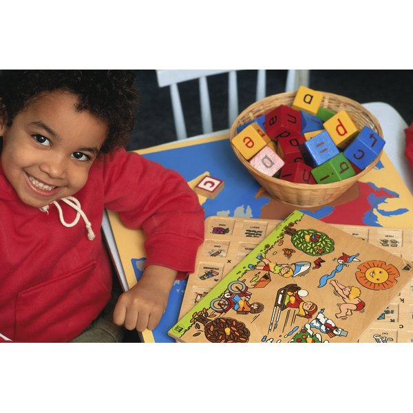 Development of fine motor skills make it possible for preschoolers to play a variety of games.
