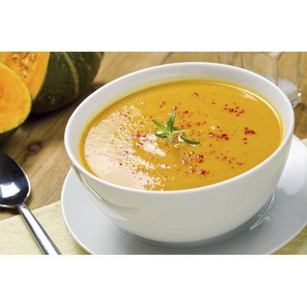 squash soup that does not require chewing