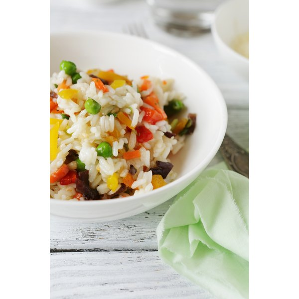 Vegetable rice is a good source of carbohydrates and protein.