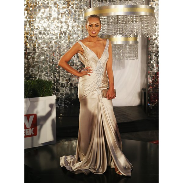 Celebrity Prinnie Stevens Wore A Champagne Dress At The 2017 Logie Awards In Melbourne Australia