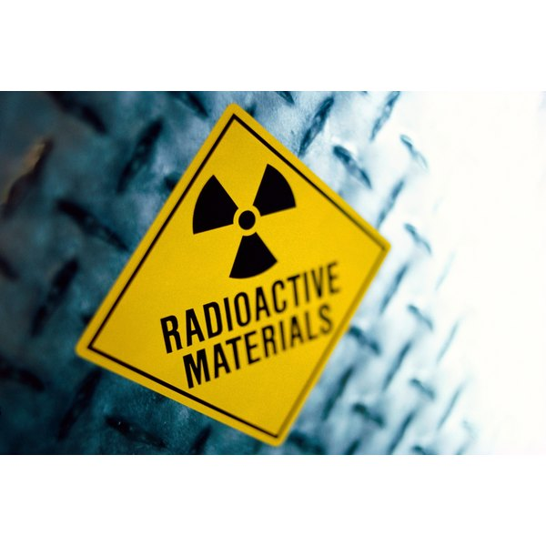 A radioactive materials sign.
