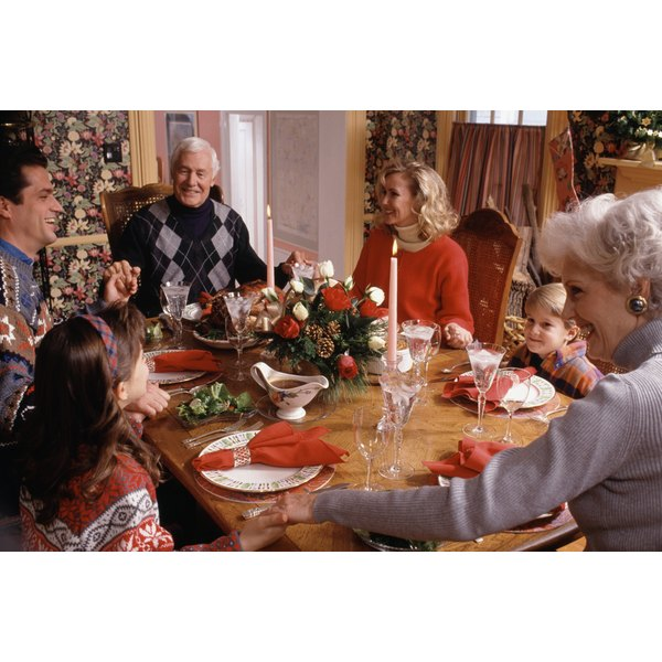 Grace before meals is a ritual for everyday and holiday dinners.
