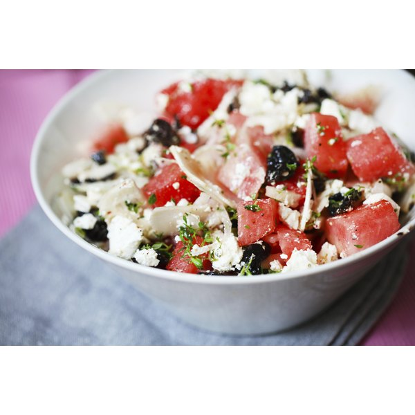 Bowl of watermelon salad