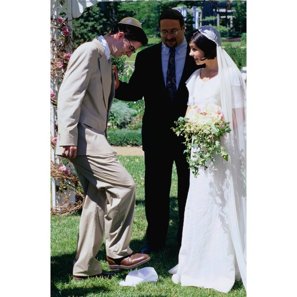 In Jewish weddings, the vows are repeated as the rings are exchanged.