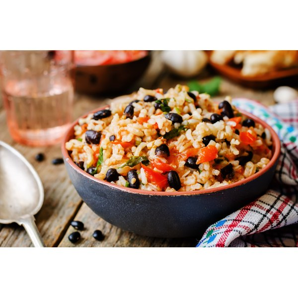 A bowl of Spanish rice.