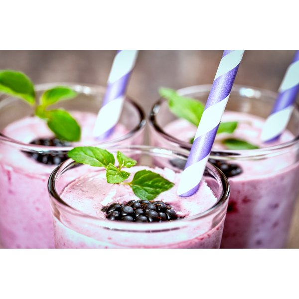 A blackberry diet milkshake.